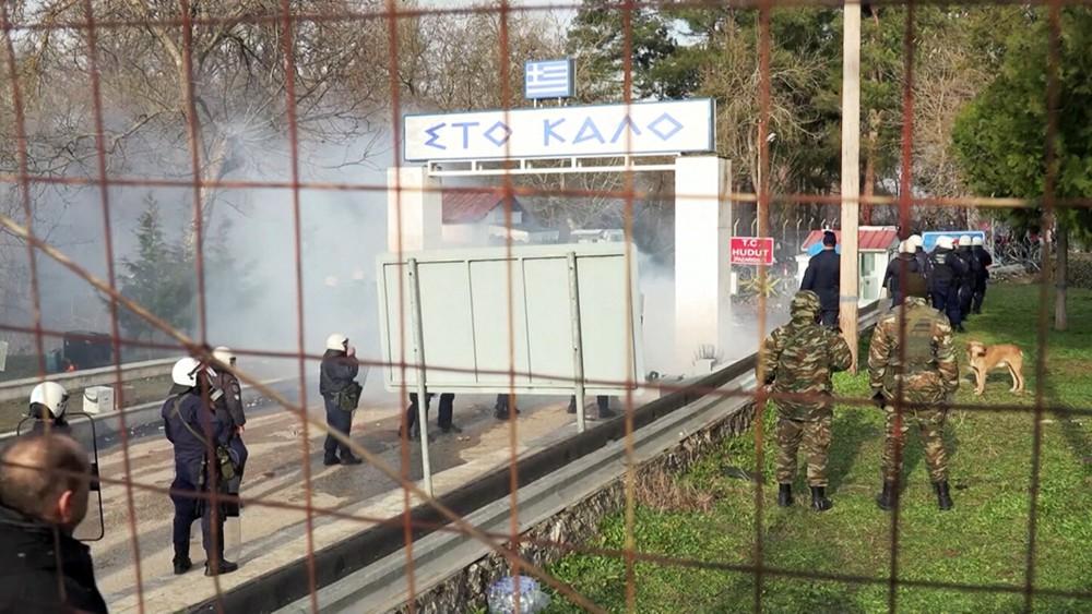 Мигранты у границ Греции