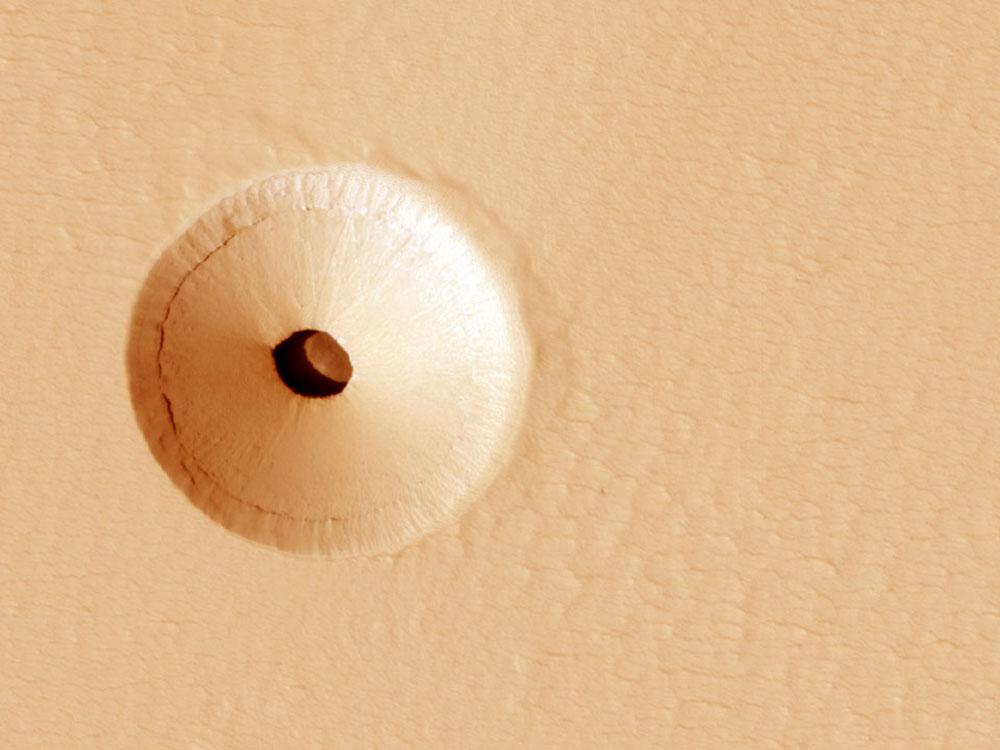 Крвтер на поверхности Марса