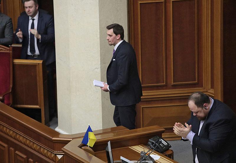 Алексей Гончарук на заседании Верховной Рады Украины
