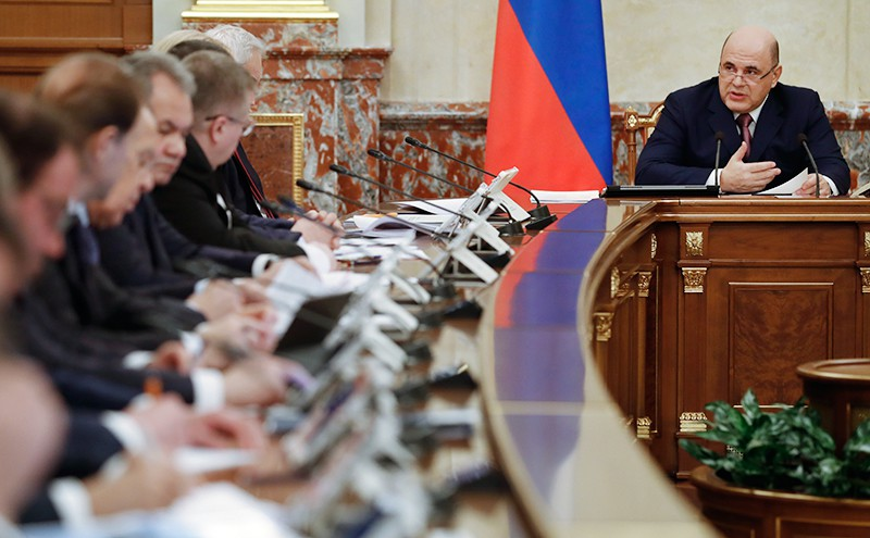 Михаил Мишустин на заседании