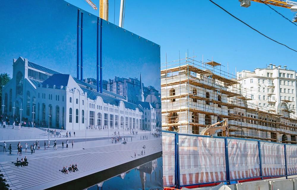 Реставрационные работы ГЭС-2