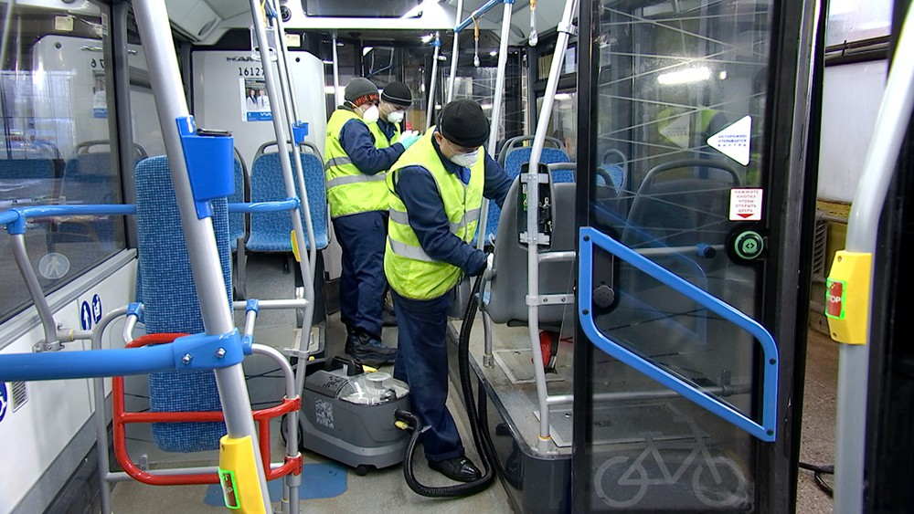Дезинфекция салона автобуса