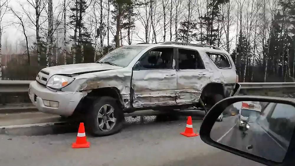 Последствие ДТП на трассе