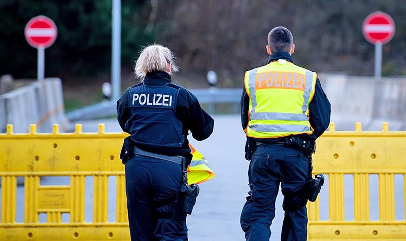 Полиция Германии на блокпосту