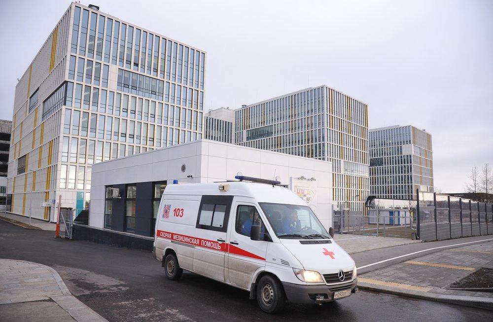 Больничный корпус в Коммунарке, куда помещают пациентов с подозрением на коронавирус