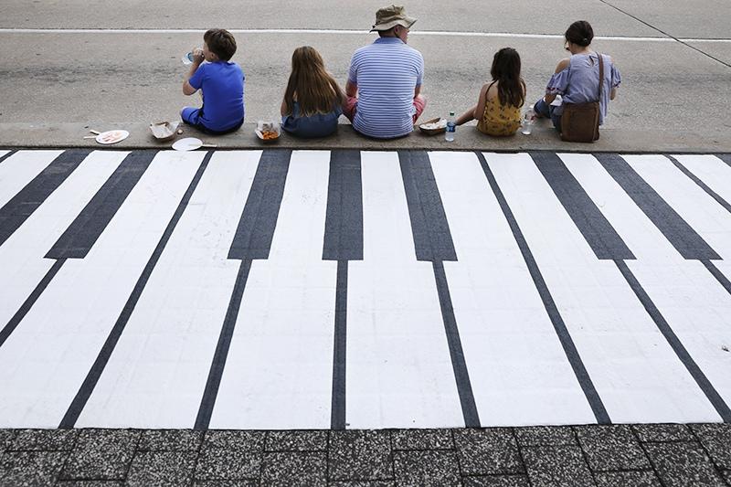 Клавиши музыкального тротуара
