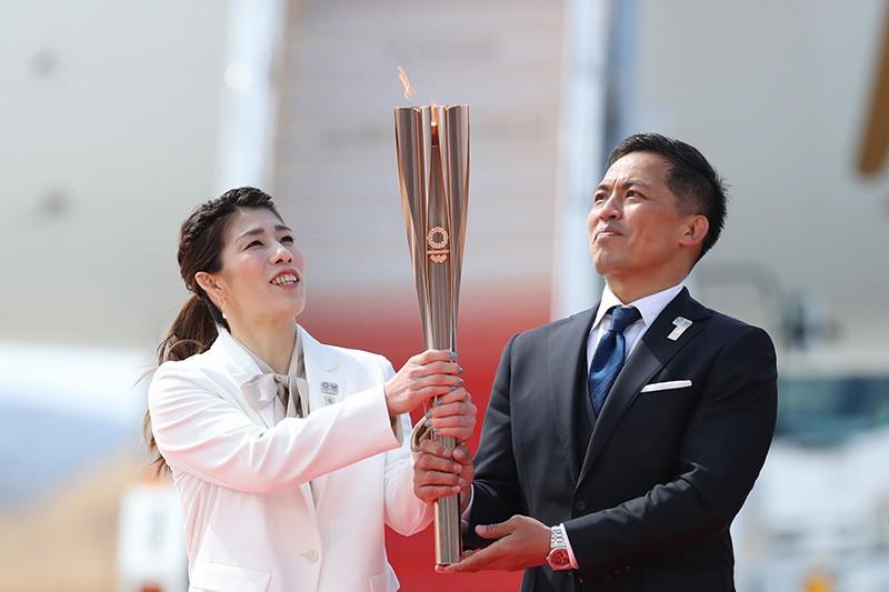 Олимпийский огонь в Японии
