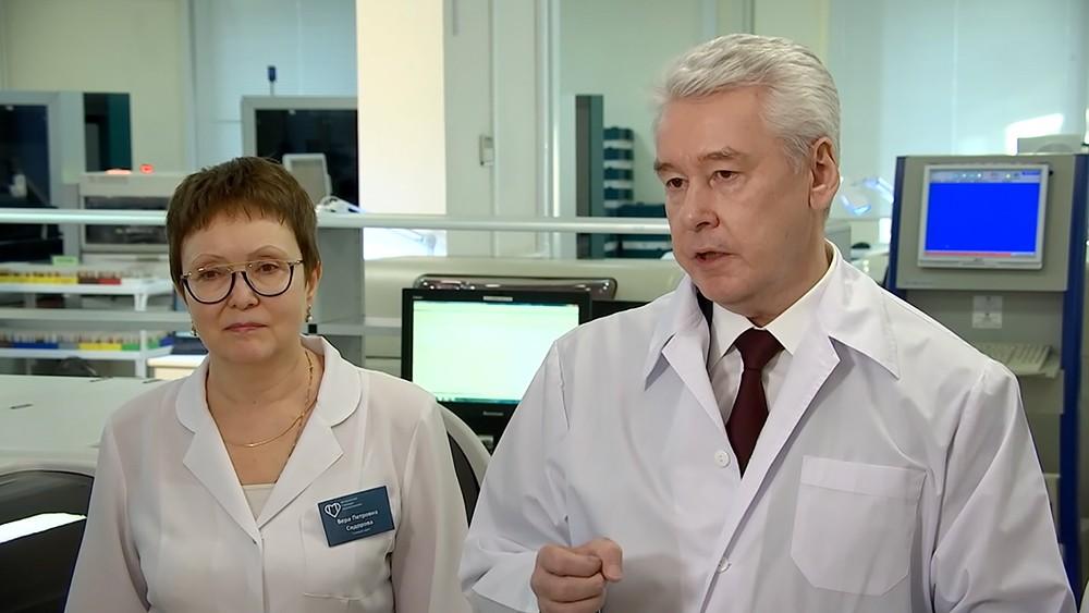 Сергей Собянин в линико-диагностическом центре