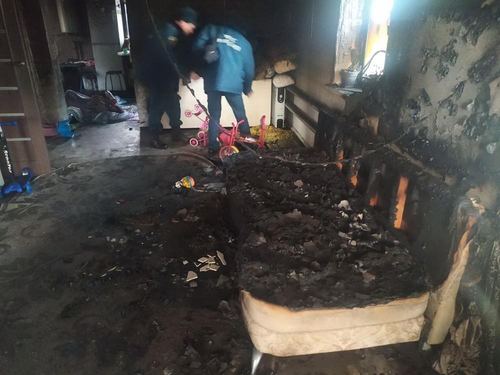 Последствия возгорания в частном доме