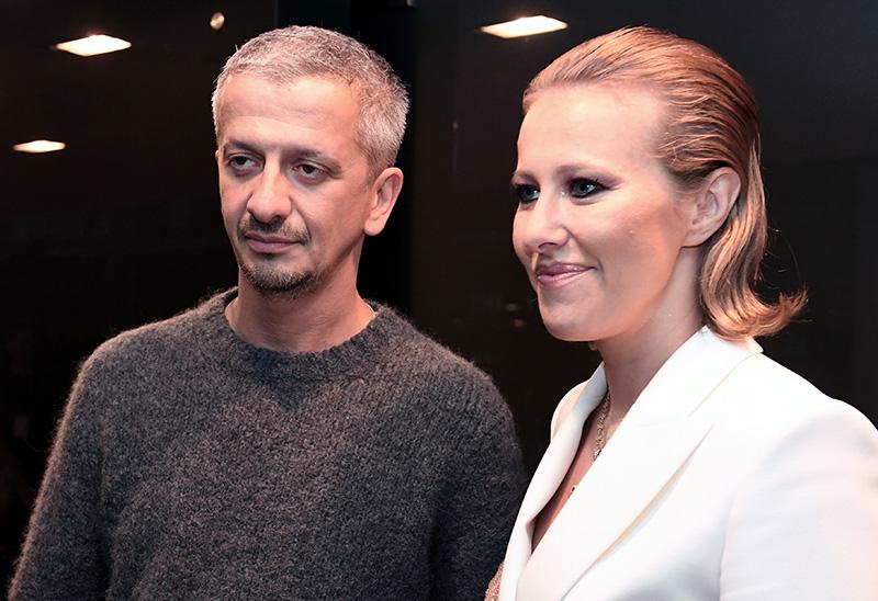 Режиссер Константин Богомолов и телеведущая Ксения Собчак