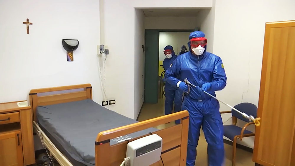 Работа российских военных врачей в Бергамо