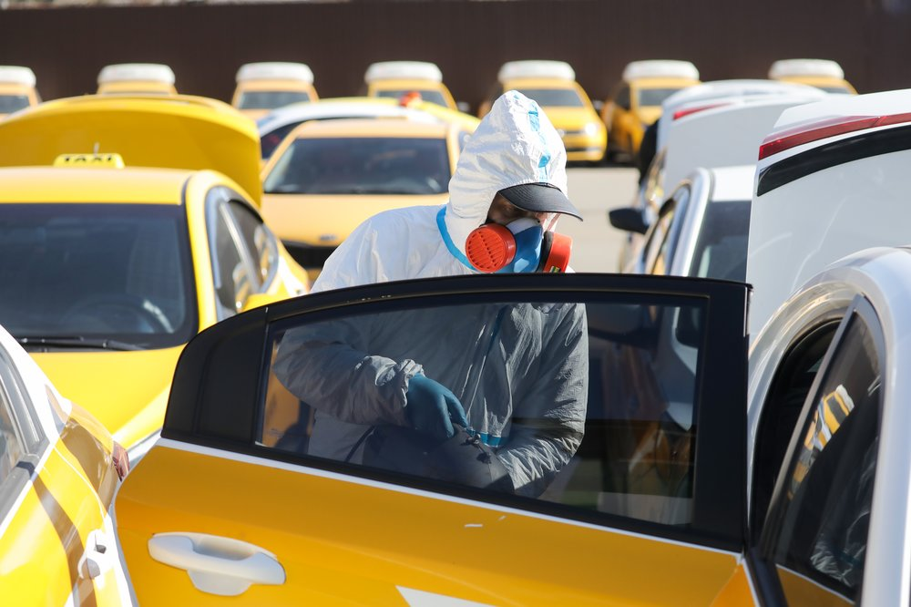 Санитарная обработка такси