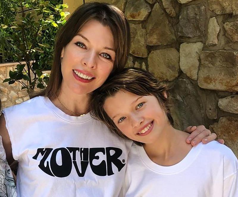 Милла Йовович с дочерью