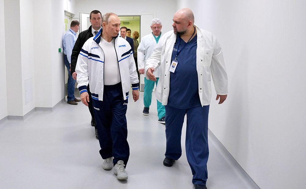 Владимир Путин и Денис Проценко