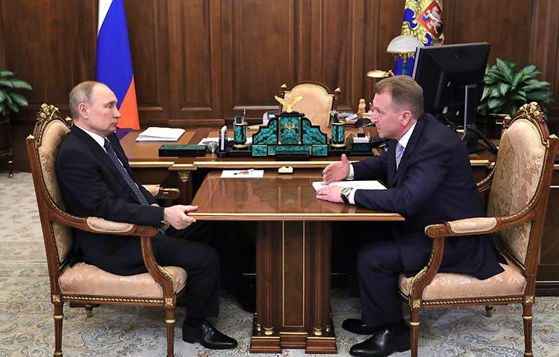 Владимир Путин и Игорь Шувалов
