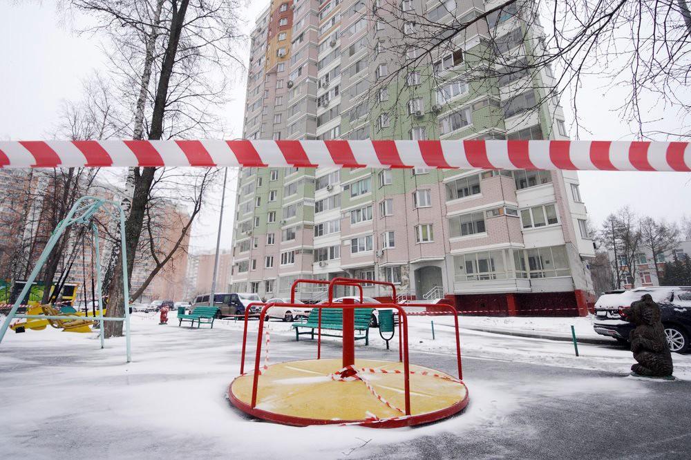 Оцепление детской площадки