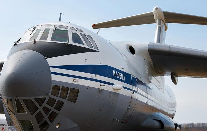 Военно-транспортный самолет ВКС России Ил-76 МД