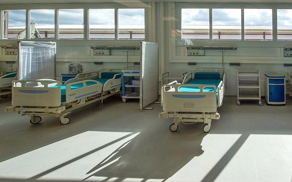 Ход строительства инфекционной больницы в ТиНАО