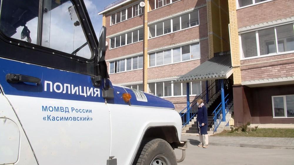 Полиция на месте стрельбы в Рязанской области