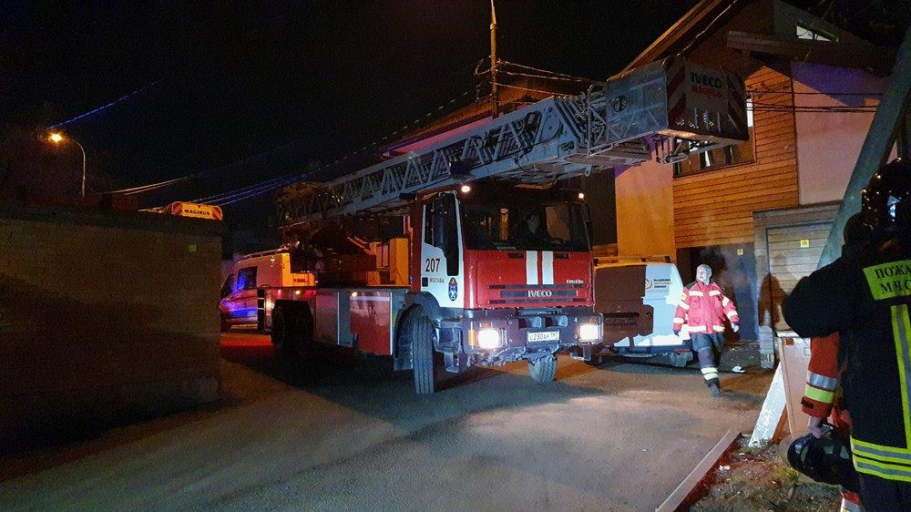 Пожар в московском доме престарелых