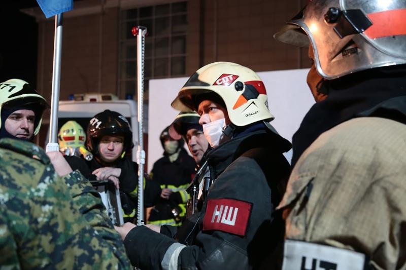 Пожар в частном доме престарелых в Москве