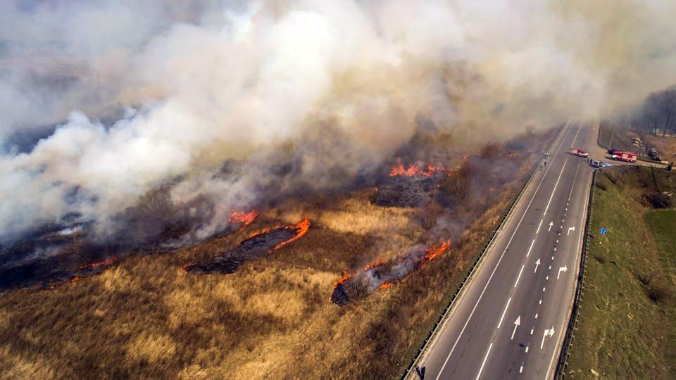 Степные пожары на Украине