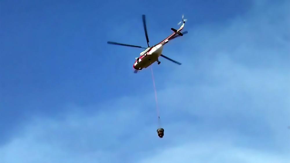 Пожарный вертолет МЧС Украины