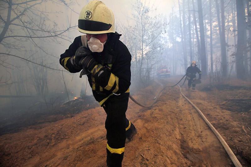 Лесные пожары на Украине