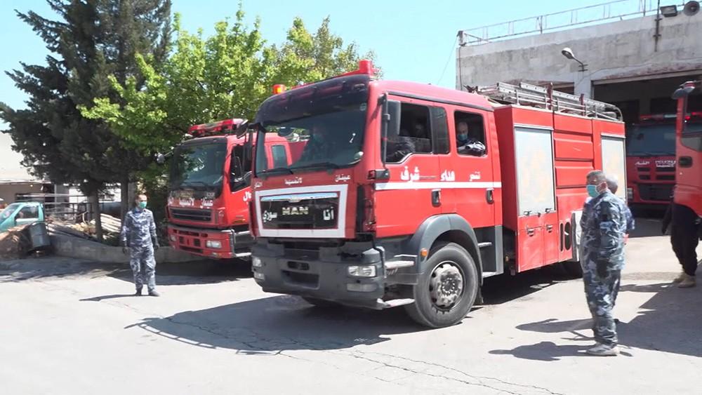 Пожарные в Сирии