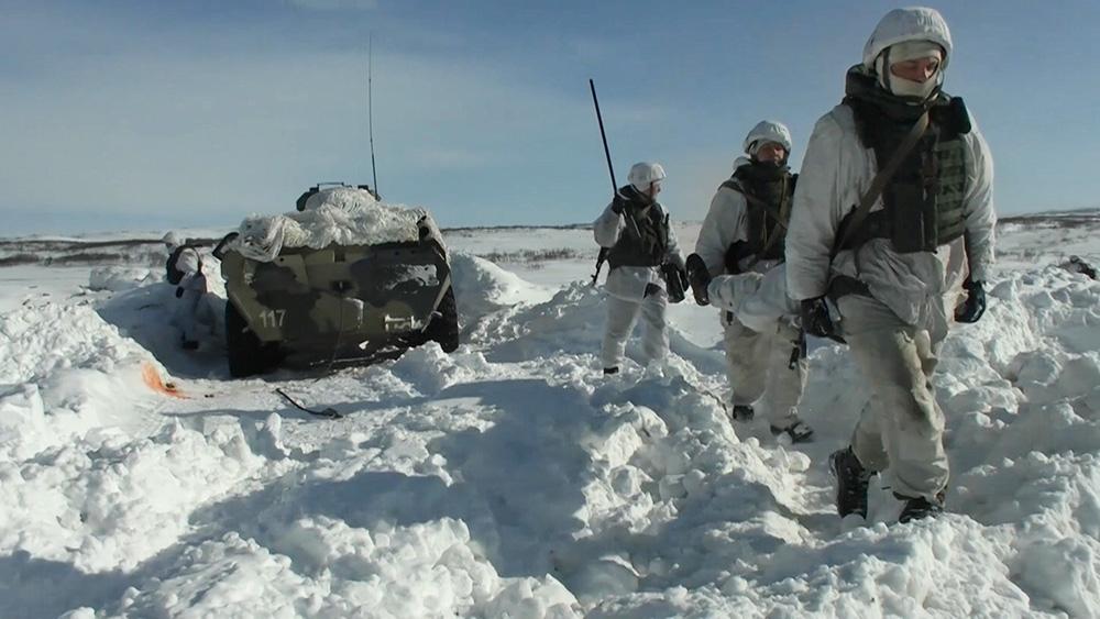 Учение морпехов Северного флота в Заполярье