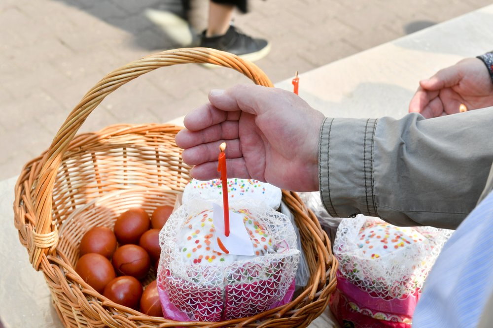 Освящение куличей накануне праздника Пасхи