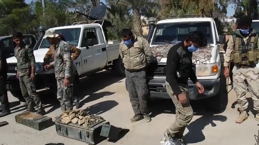 Группа боевиков в Сирии