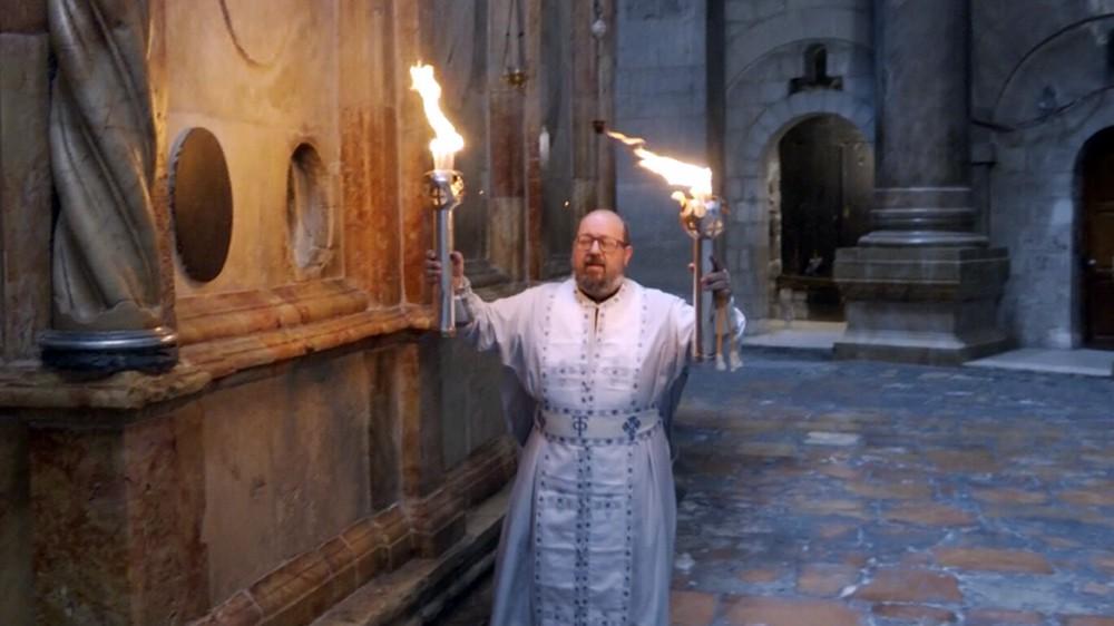 Сошествие Благодатного огня в храме Гроба Господня в Иерусалиме