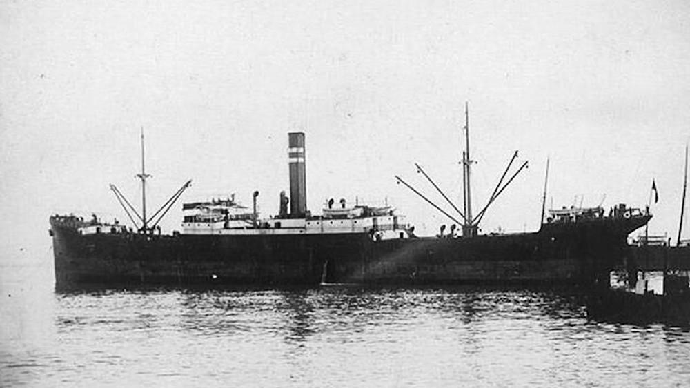 Старое фото американского судна