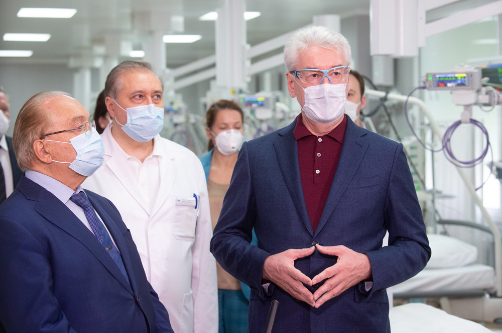 Сергей Собянин открыл коронавирусный стационар на базе клиники МГУ