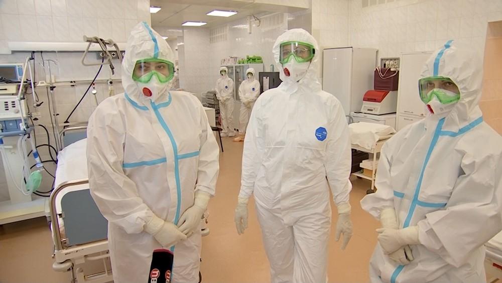 Коронавирусный стационар в клиническом госпитале МВД