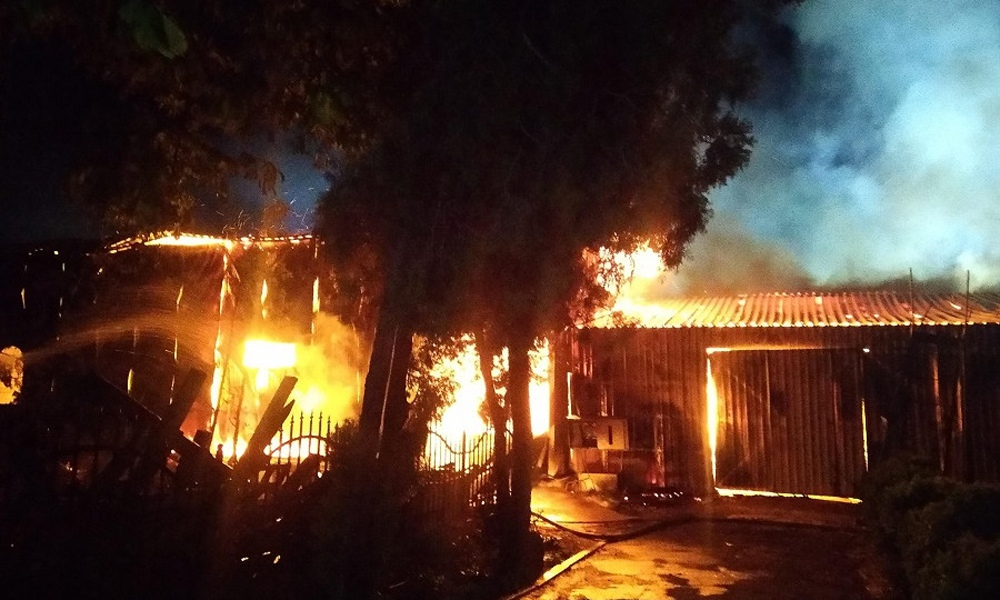 Пожар в Свято-Успенском мужском монастыре в Одессе