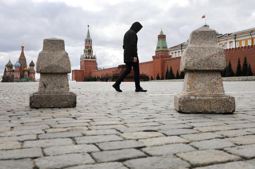 Мужчина на Красной площади