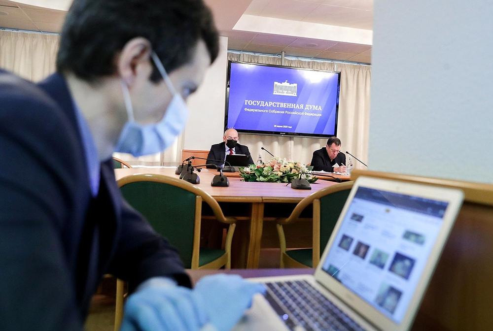 Работа Госдумы во время эпидемии коронавируса