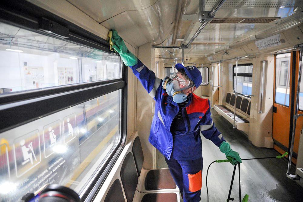Дезинфекция в метро