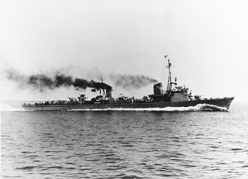Немецкий эсминец времен Великой Отечественной войны