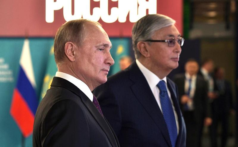 Владимир Путин и президент Казахстана Касым-Жомартом Токаев
