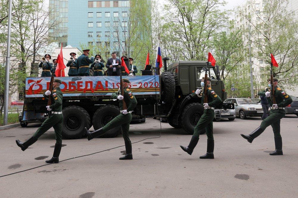 Парад Победы для ветерана ВОВ