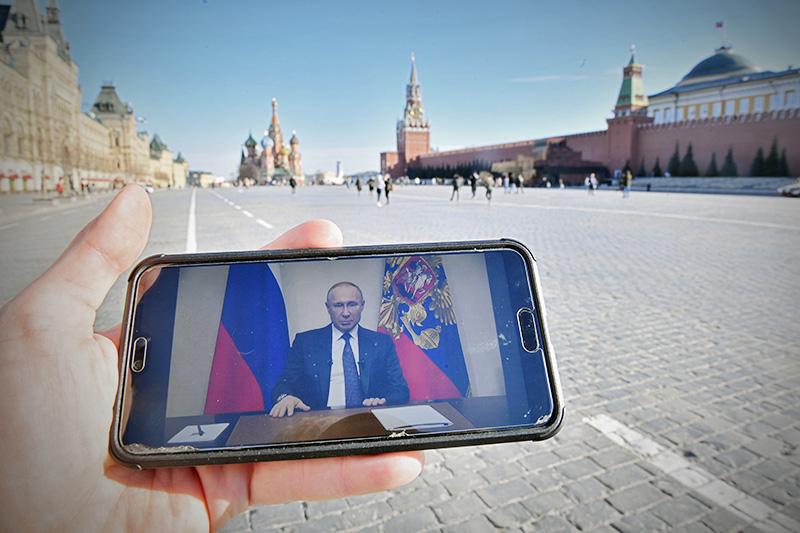 Обращения президента России Владимира Путина к гражданам из-за ситуации с коронавирусом