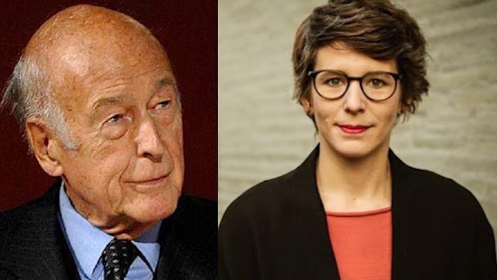 Жискар д'Эстен и немецкая журналистка Анн-Катрин Штраке