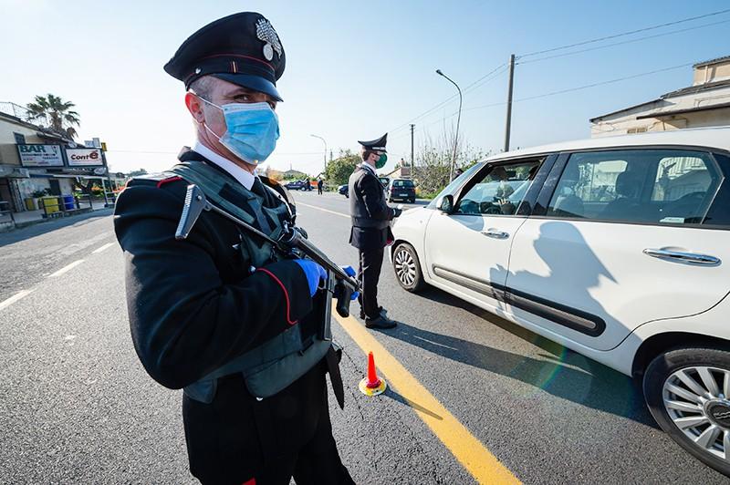 Полицейский блок-пост в Европе