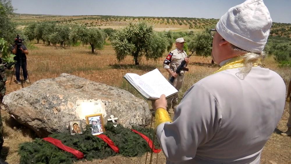 Молебен на месте гибели летчика Романа Филипова