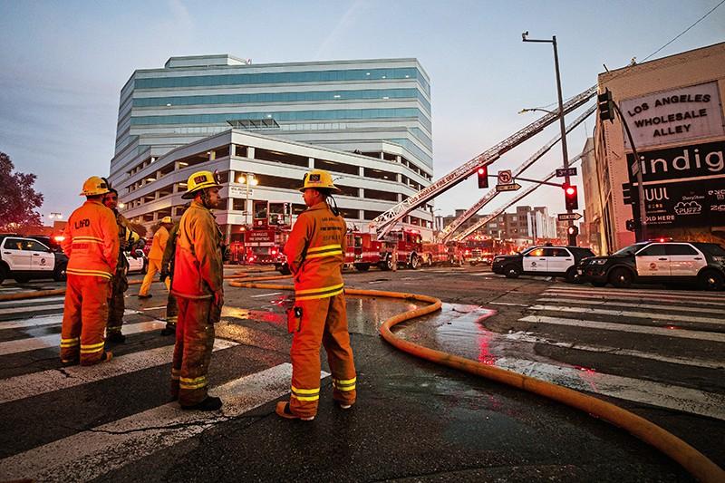 Пожар в Лос-Анджелесе