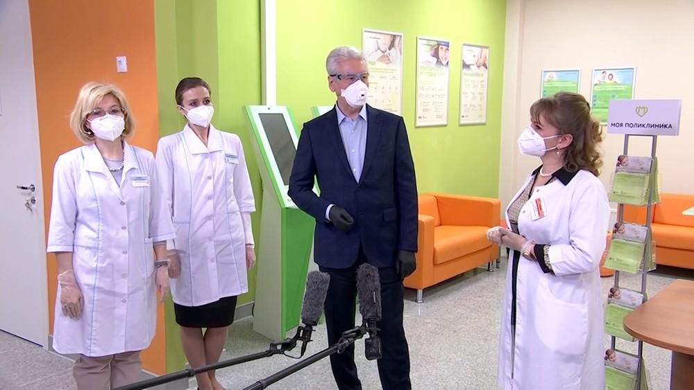Сергей Собянин осматривает клинику