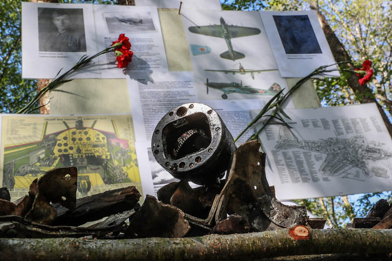 На месте падения штурмовика Ил-2